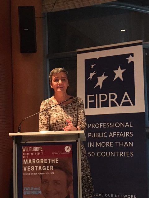 Fipra breakfast debate with the European Commissioner for Competition, Margrethe Vestager