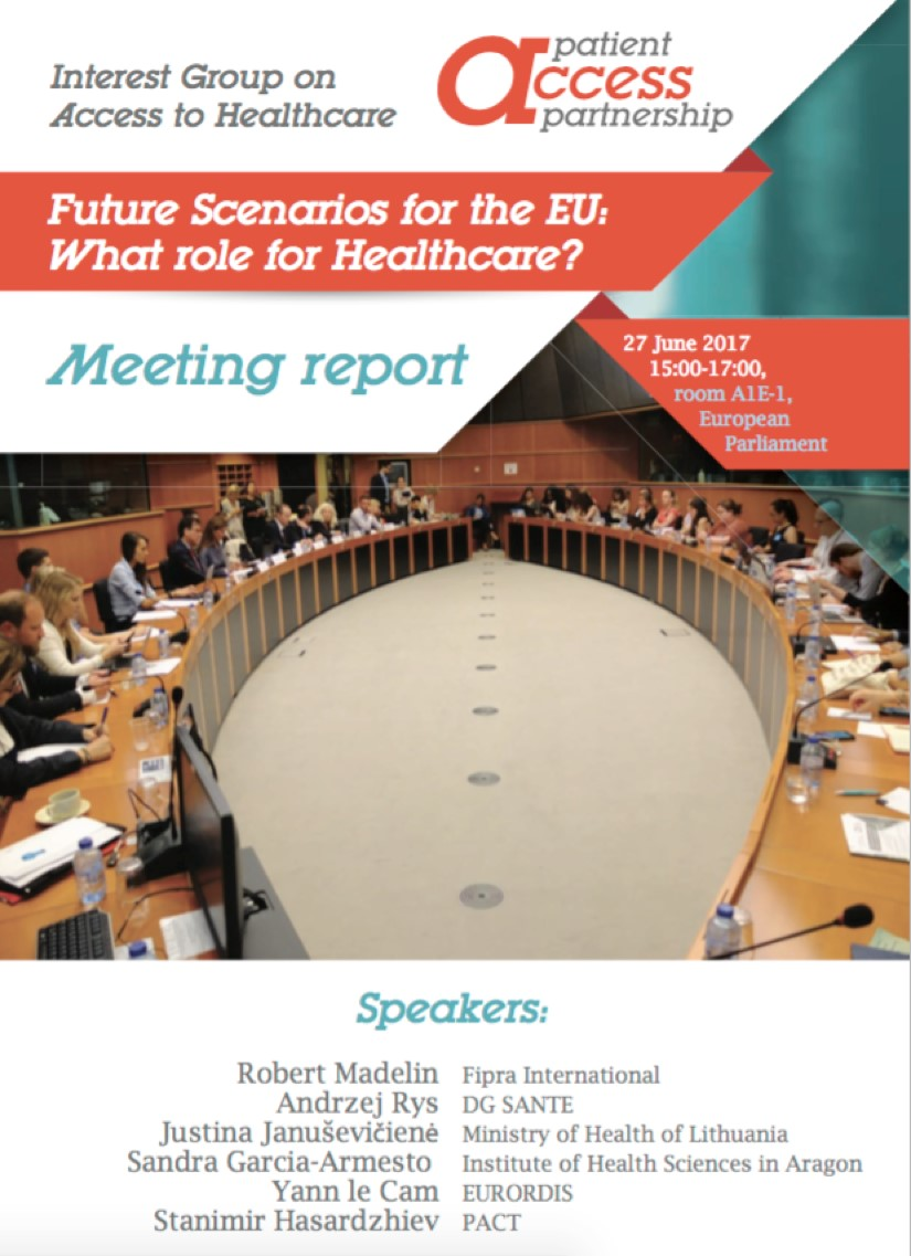 """Future Scenarios for the EU: What role for Healthcare?"""