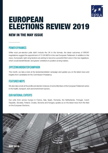Fipra's European Elections Review 2019 – May Edition