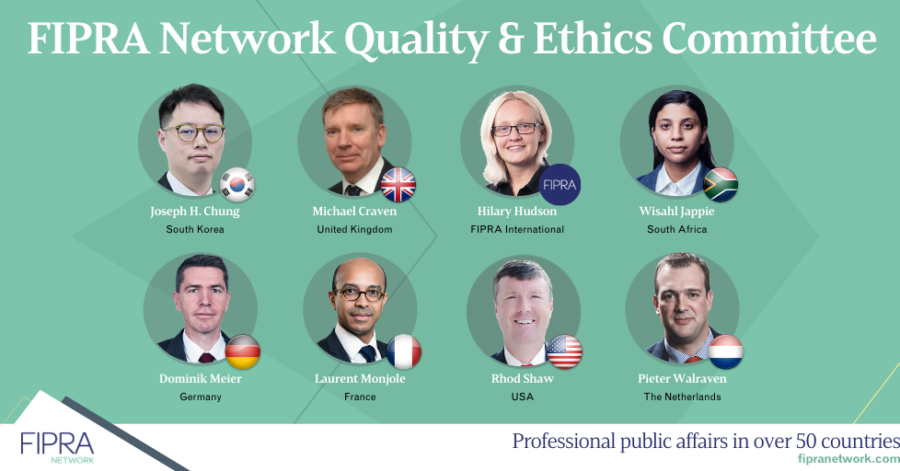 FIPRA Network's Quality and Ethics Committee swings into action