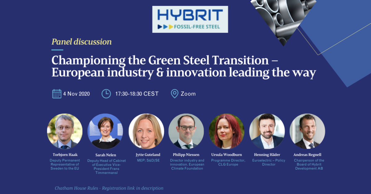 Championing the Green Steel Transition – European industry & innovation leading the way