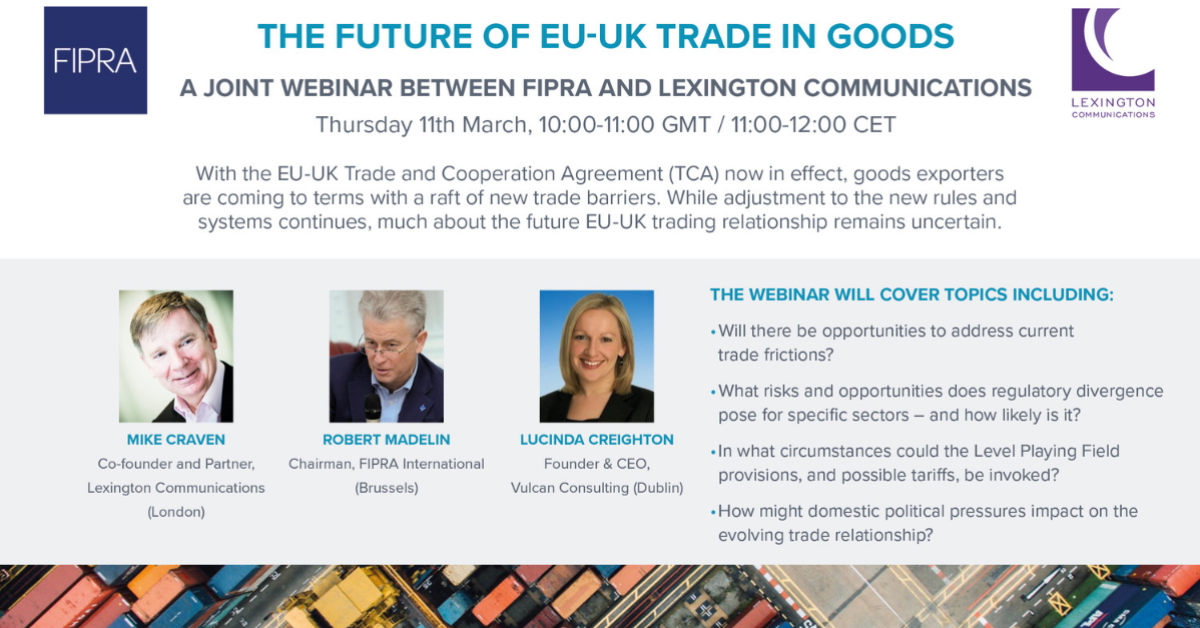 The future of EU-UK trade in goods
