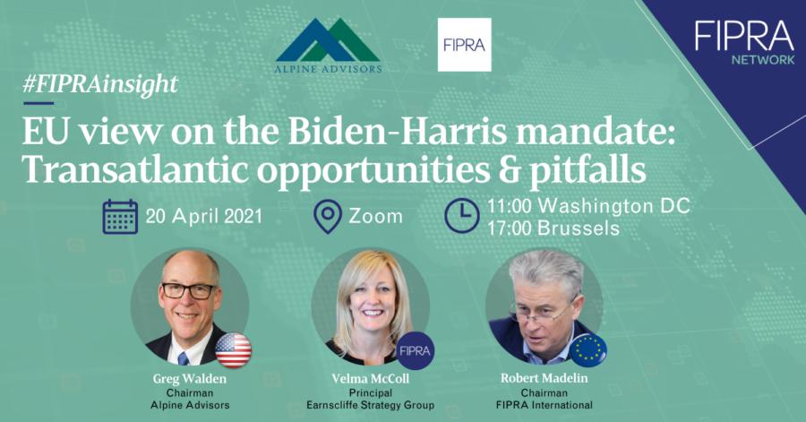 EU view on the Biden-Harris mandate: Transatlantic opportunities & pitfalls