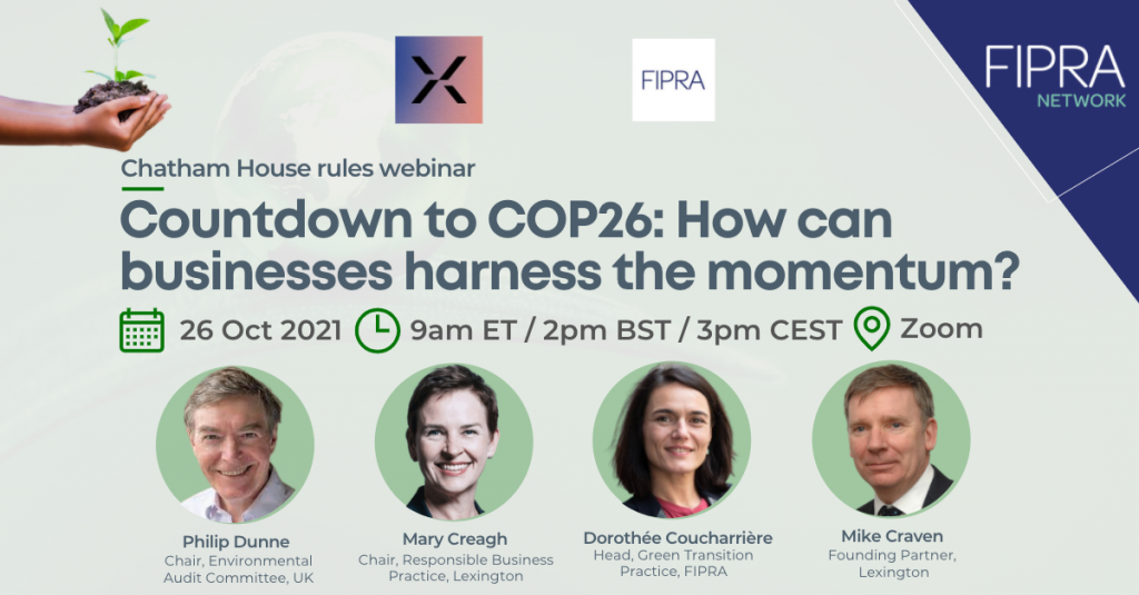 Countdown to COP26: How can businesses harness the momentum?